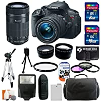 Canon EOS Rebel T5i 18.0 MP CMOS Digital Camera body HD Video with EF-S 18-55mm f/3.5-5.6 IS STM Zoom Lens + Canon EF-S 55-250mm f/4.0-5.6 IS STM Telephoto Zoom Lens + 58mm Telephoto Lens + 58mm Wide Angle Lens + Flash + Spare Battery + 3-piece Filter Kit with 24GB Complete Deluxe Accessory Bundle Noticeable Review Image