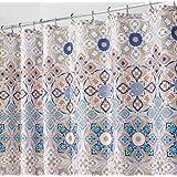 MDesign Clover Medallion Fabric Shower Curtain For Bathroom