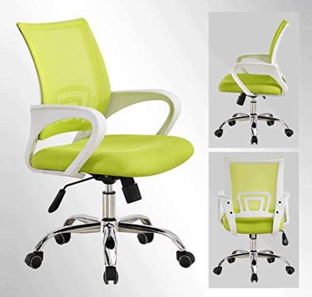 Skrivbordsstolar kontorsstol personal kontorsstol ergonomisk datorstol fåtöljer andningsbar fritidsstol kontor (färg: Orange) Orange