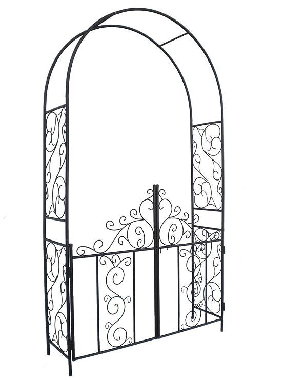 Amazon Com 1 Go Steel Garden Arch With Gate 75 High X 42