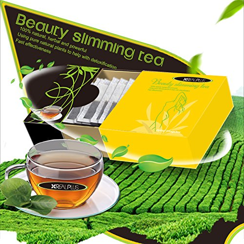 Beauty Slimming Tea by Real, Tea with a herbal weight loss formula, aiming at fast weight loss!!! 2g X 20 Bags!!!