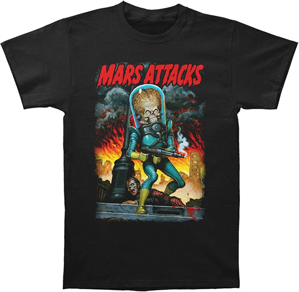 Mars Attacks City Destruction adult tee