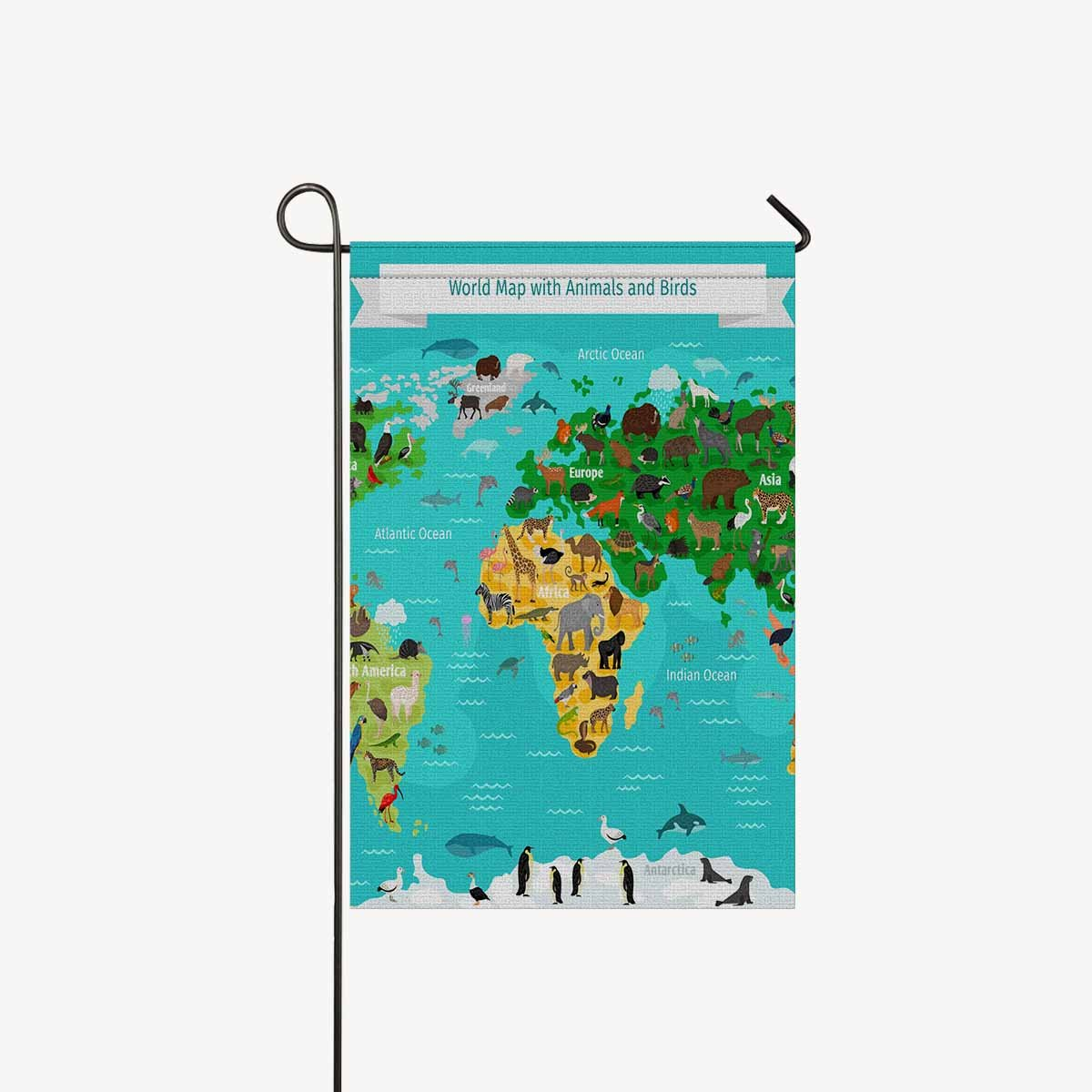 Amazon Com Interestprint Garden Flags House Banner World Map With