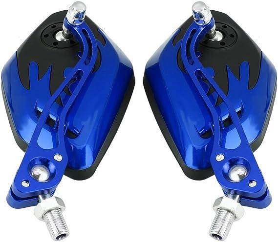 EBTOOLS 1 Paire de R/étroviseurs Lat/éraux Arri/ère de Mod/èle de Scooter de Moto Universelle de 8 mm /à 10 mm Bleu