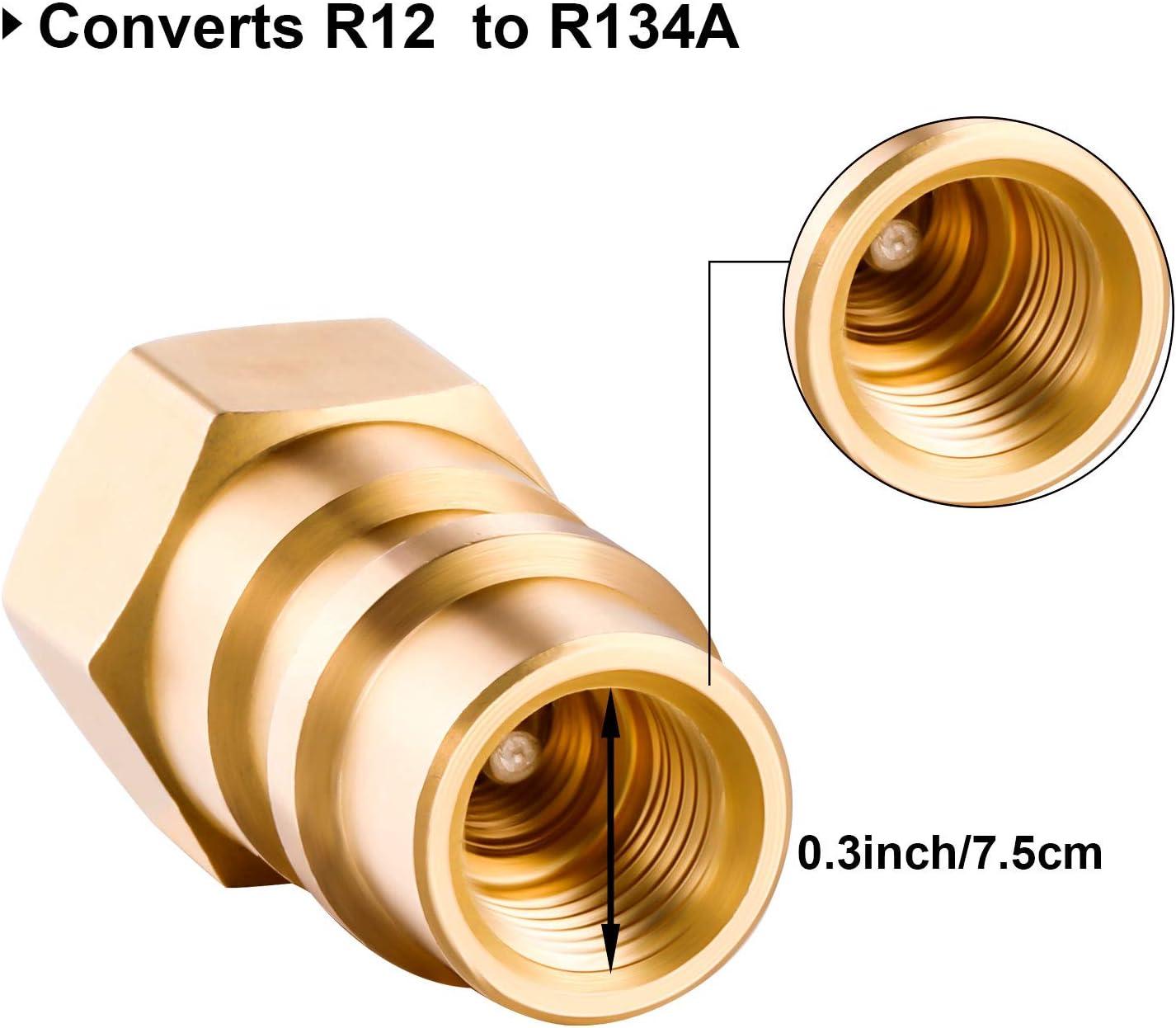 Mudder 4 Pieces VA-LH11 A//C Pro R-12 to R-134a Retrofit Parts Kit Retrofit Conversion Adapter Fitting 1//4 SAE Thread Low High Side Retrofit Conversion