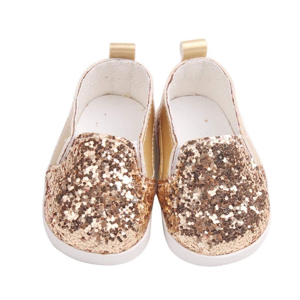 Doll Chaussures, YUYOUG Glitter Doll Baskets Shoes Chaussures pour Poupée for 18 inch Our Generation American Girl Doll