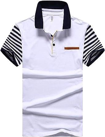 Lanceyy Polo Camisa Básica De Manga para Corta Hombre Simple Estilo Polo De Manga Corta Color Mezclada Deportiva De Ocio Polo Camiseta: Amazon.es: Ropa y accesorios