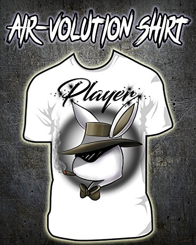 Personalized Airbrushed Player Bunny Shirt by Mythic Airbrush