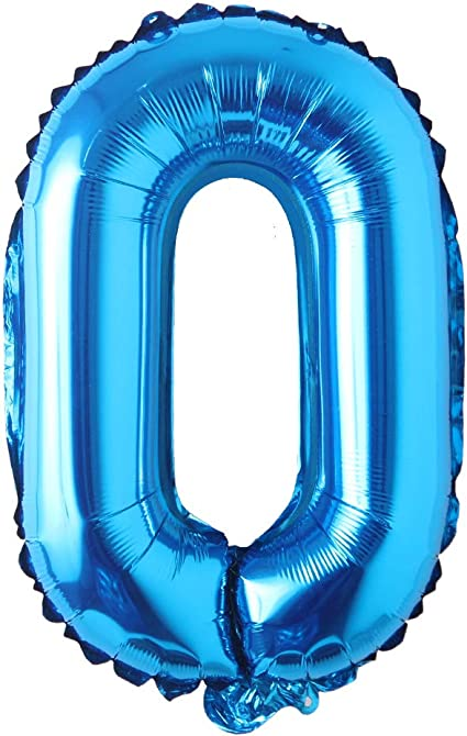 Amazon Com 16 Inch Single Blue Alphabet Letter Number Balloons Aluminum Hanging Foil Film Balloon Wedding Birthday Party Decoration Banner Air Mylar Balloons 16 Inch Pure Blue O Health Personal Care