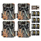 Four Browning Strike Force HD 850 Trail Cameras (16MP, Camo) with 8 x 8GB Memory Cards and Focus USB Reader