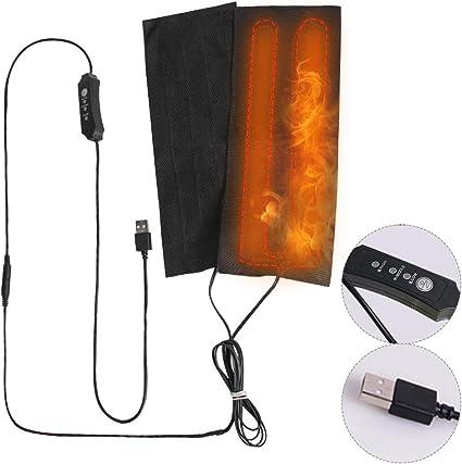 1 Pair Heating Pad Hand Warmer Heated Insole USB Heating Film Electric Heat Mat