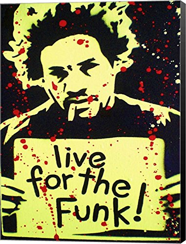 Live For The Funk by Abstract Graffiti Canvas Art Wall Picture,