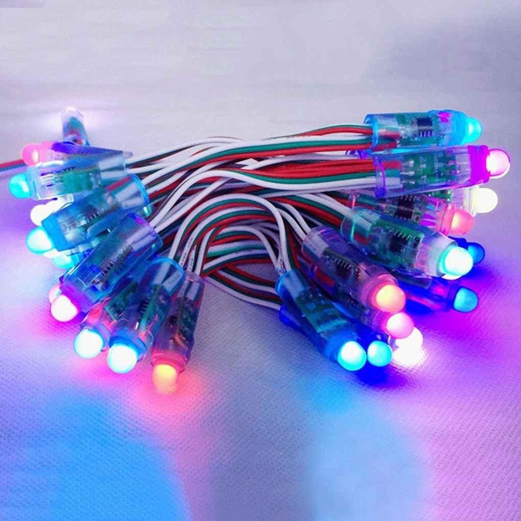 NAYUKY DC 5V 50PCS WS2811 RGB Farben 12mm Pixel digital Licht Adressierbarer Schnur-Lampen-Birnen-Dekor