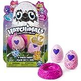 HATCHIMALS 哈驰魔法蛋 女孩过家家玩具孵化MINI蛋 两只装带鸟巢(亚马逊自营商品, 由供应商配送)