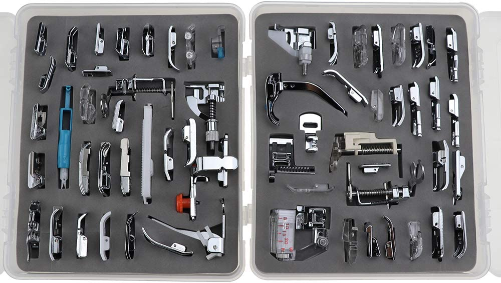YOKOYAMA 62 pcs Sewing Machine Presser Feet Set for Brother, Babylock, Singer, Janome, Elna, Toyota, New Home, Simplicity, Necchi, Kenmore, and White Low Shank Sewing Machines
