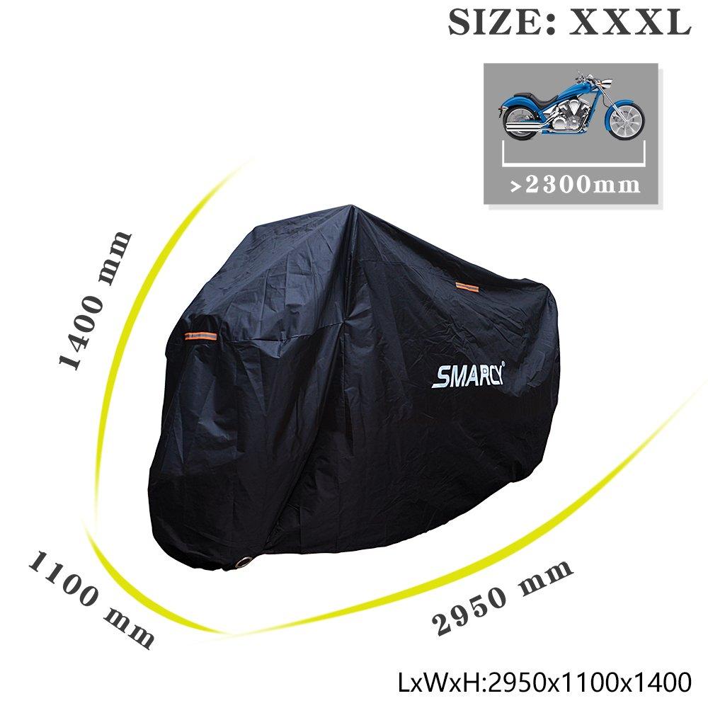 SMARCY/® Housse de Protection pour Moto Rouge et Noir XL