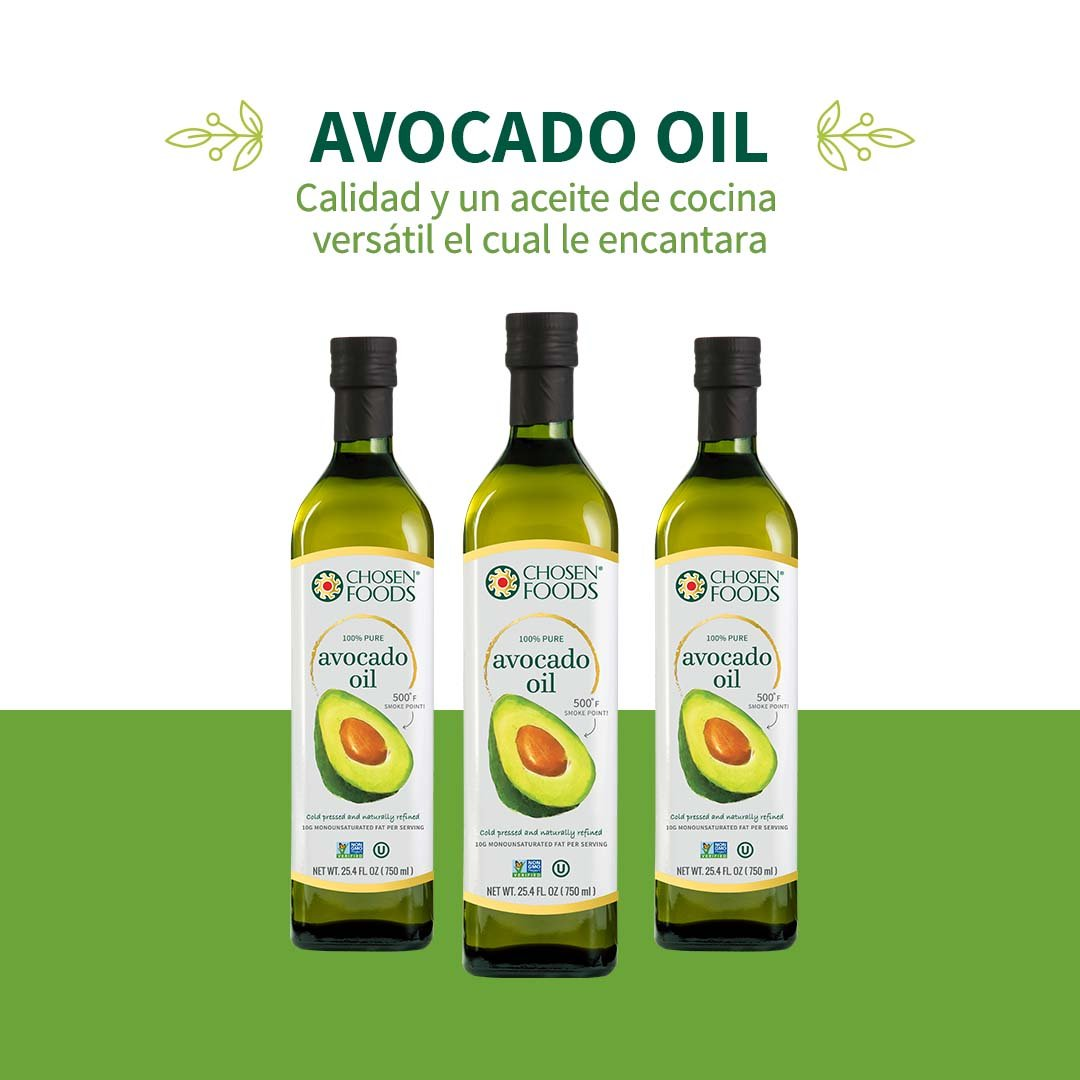 Chosen Foods 100% Avocado Oil Gold Label 25.4 oz, Non-GMO, for High-Heat Cooking, Frying, Baking, Homemade Sauces, Dressings and Marinades by Chosen Foods (Image #4)