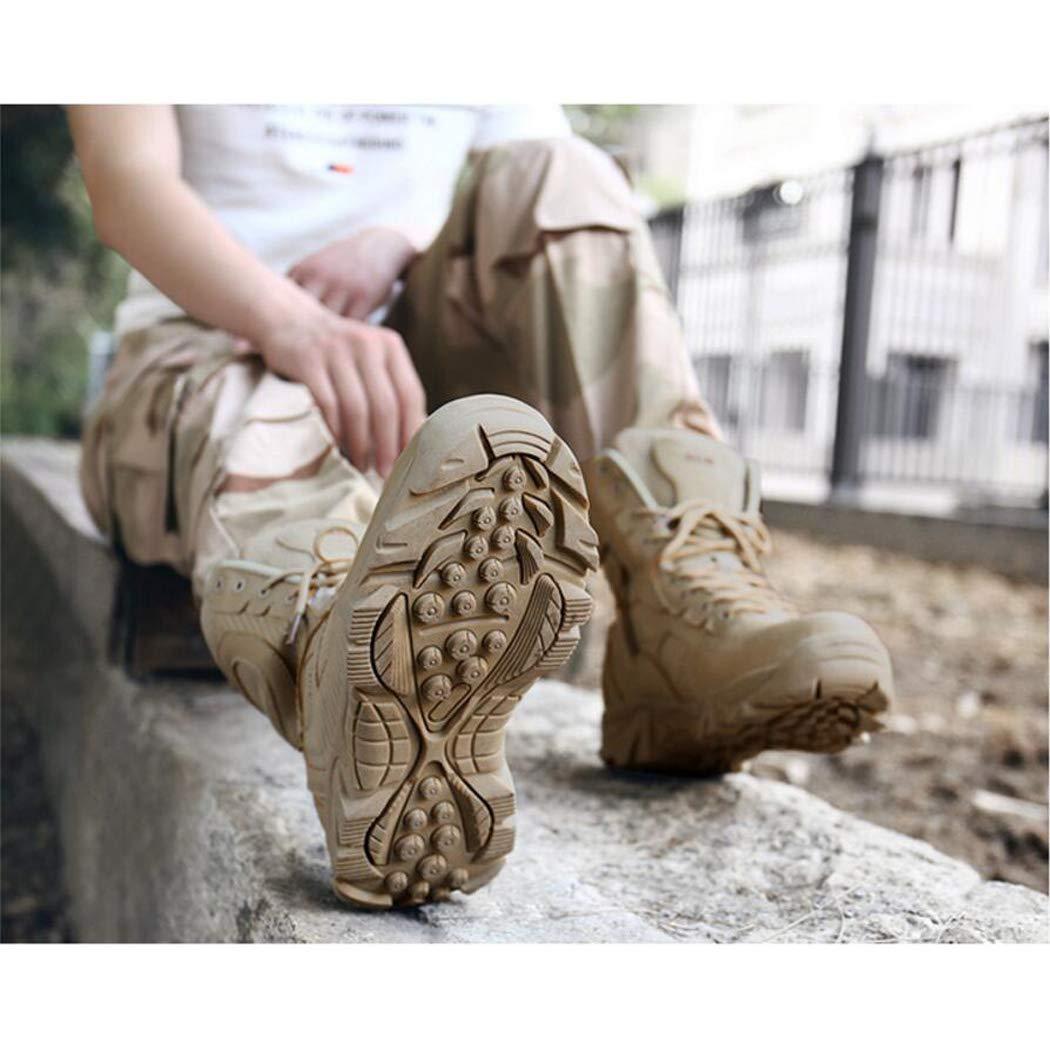 Xxoschuhe Männer Military Army Tactical Outdoor Sports Up Camping Wandern Arbeit Kampf Lace Up Sports Atmungsaktive High Top Seitlicher Reißverschluss Wüste Leder Schuhe Stiefel f1f4da