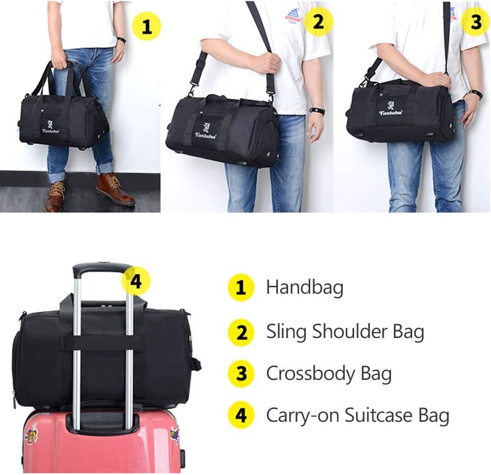 BAGZY Bolsa de Deporte Hombre Bolsa de Viaje Bolsa Gimnasio Seco y h/úmedo Separado Mujer Bolsa de Mano Bolsa Fin de Semana Travel Duffle Bag con Compartimento para Zapatos 40L