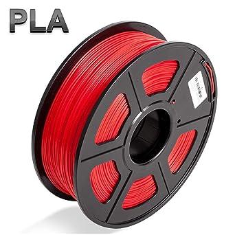 Colorfish - Filamento PLA para impresora 3D, 1,75 mm, color rojo ...