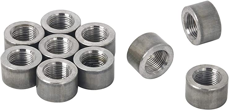 O2 Oxygen Sensor Fitting Plugs or Weld Bungs 10 Steel Stepped Bungs, M18 x 1.5