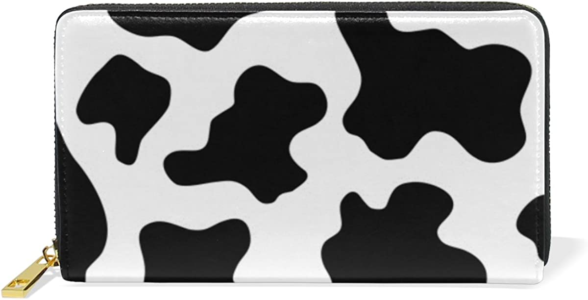 InterestPrint Funny Desserts Large Leather Trifold Multi Card Holder Wallet Clutch Long Purse for Women