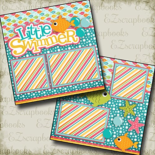 LITTLE SWIMMER GIRL - Premade Scrapbook Pages - EZ Layout 2320 ()