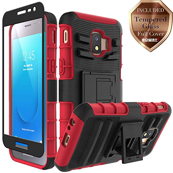 info for fe33a 2a106 Aoways for Galaxy J2 Core Case, Galaxy J2 2019 Case, Galaxy J2 Dash Case,  Galaxy J2 Pure Case, Tempered Glass Screen Protector, Heavy Duty Kickstand  ...