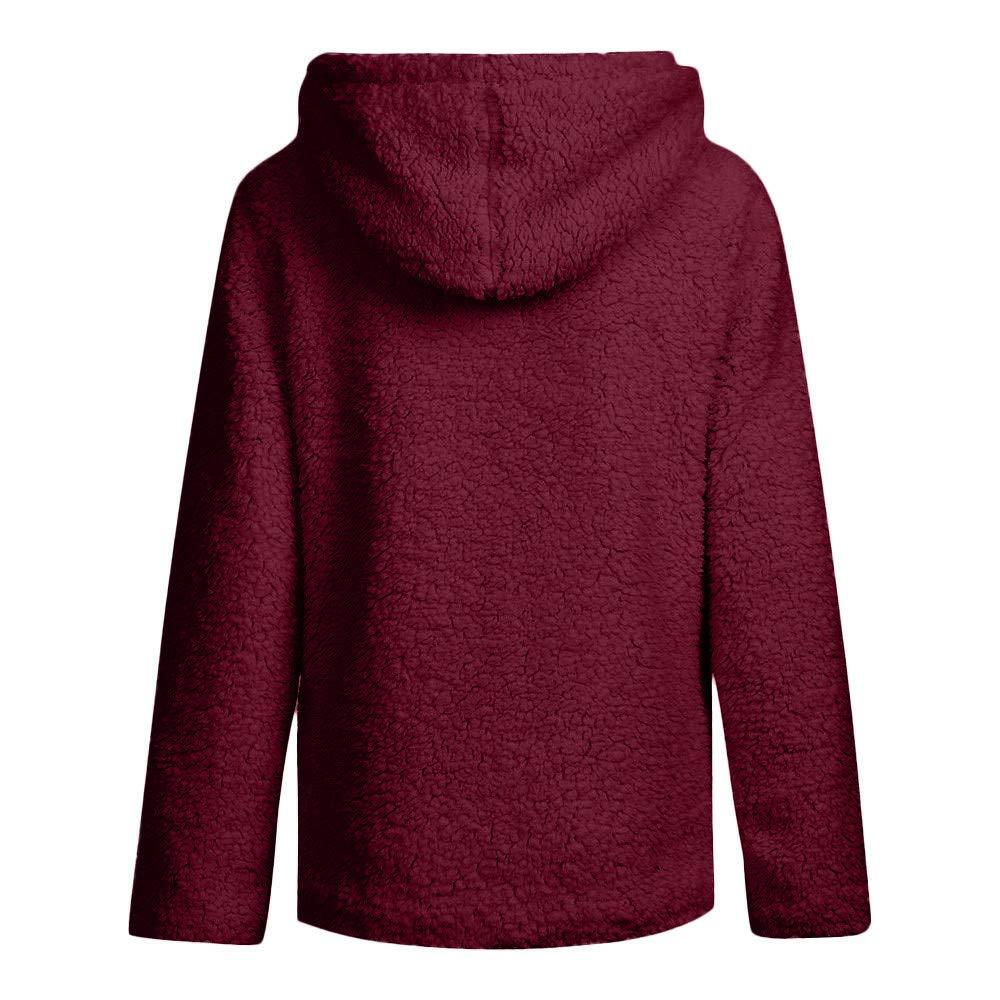 Ansenesna Casual Wild Women Autumn Long Sleeve Thick Hoodie Open Stitch Coat Jacket Cardigan