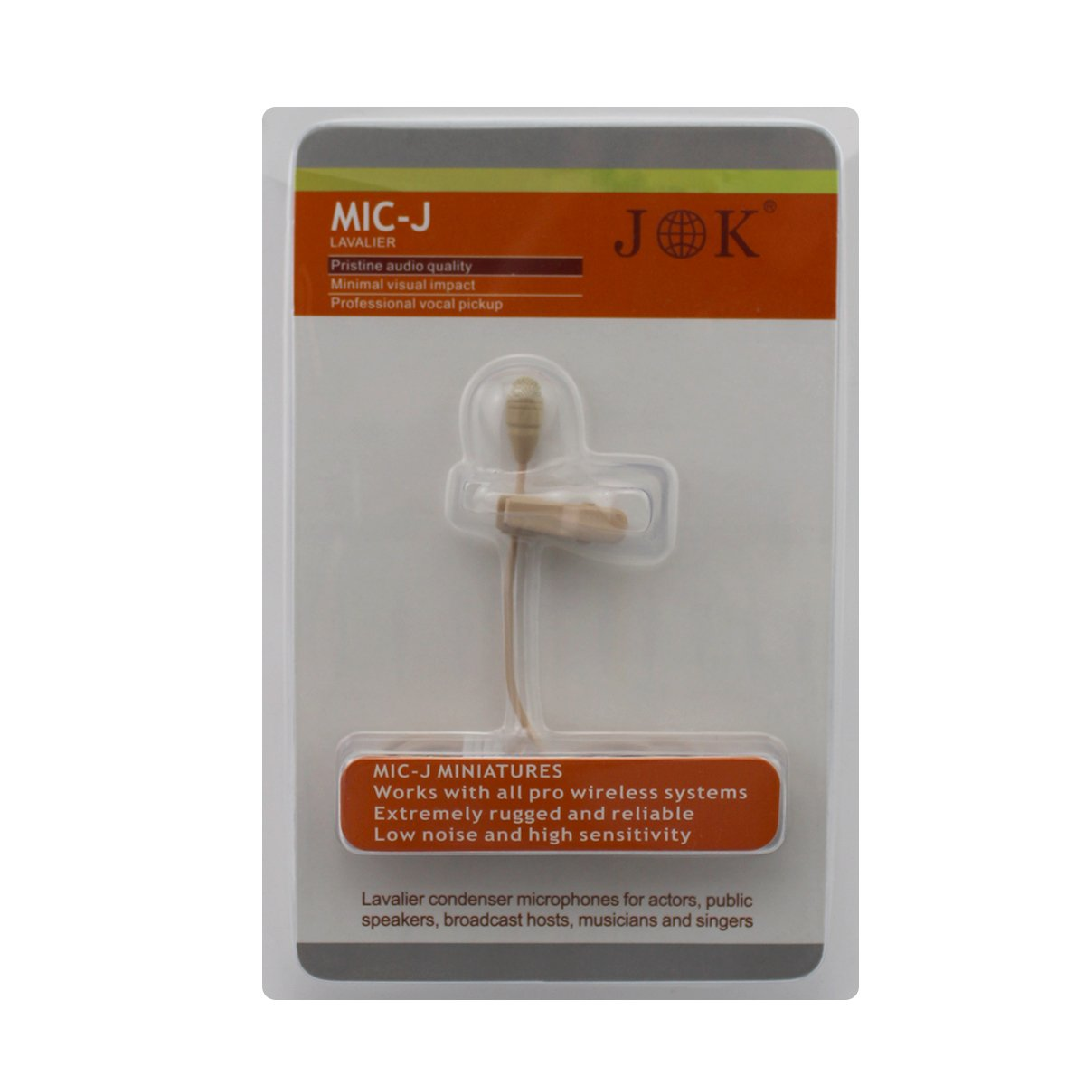 Pro Beige Lavalier Lapel Condenser Microphone JK MIC-J 050 for Sennheiser Wireless Transmitter JK ELECTRONICS JK-Mic-050-35MM