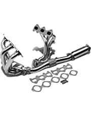 amazon headers headers parts automotive 1987 Chevy Crew Cab for 03 06 tiburon v6 6 2 1 design stainless steel exhaust header