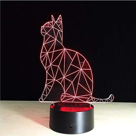 Zhong$chuang Nueva Mesa de Escritorio táctil 3D Light Night LED ...