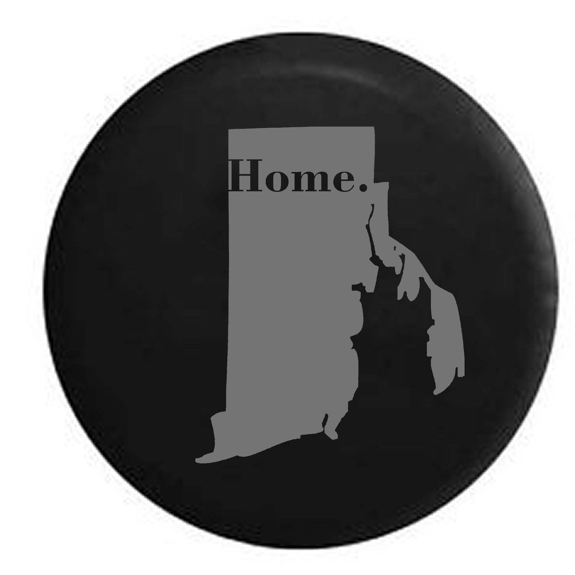 Pike Stealth - Rhode Island Home State Edition RV Spare Tire Cover OEM Vinyl Black 29 in
