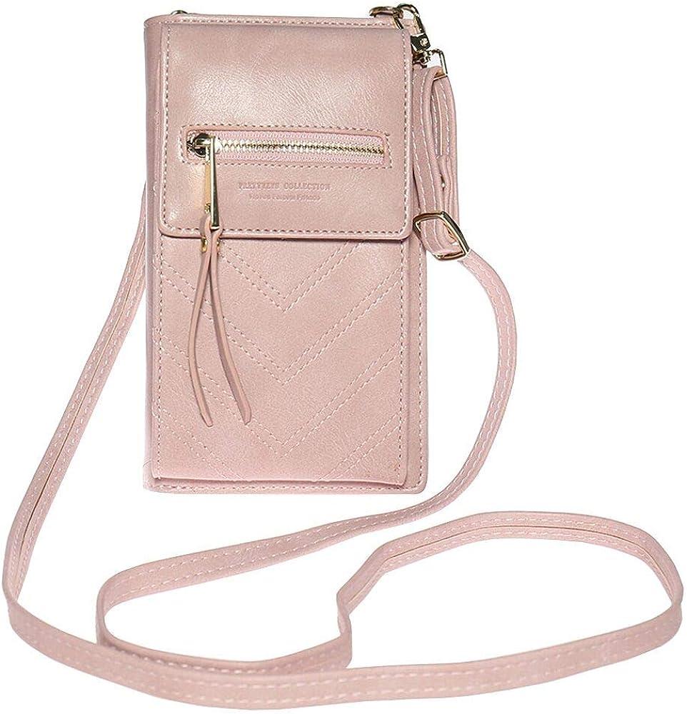 Women Mini Leather Shoulder Bag Cross body Phone Card Holder Strap Wallet Purse