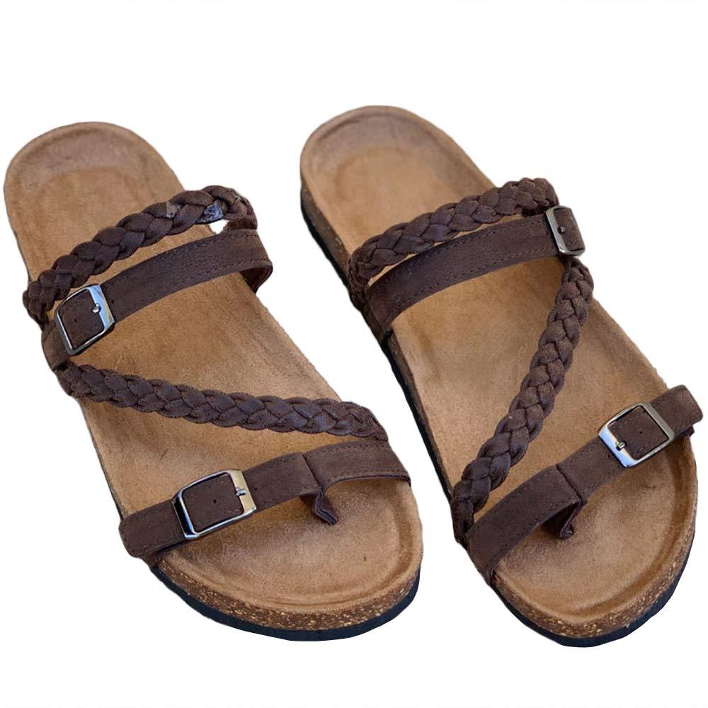 Amazon.com: Huiyuzhi – Sandalias planas de gladiador con ...