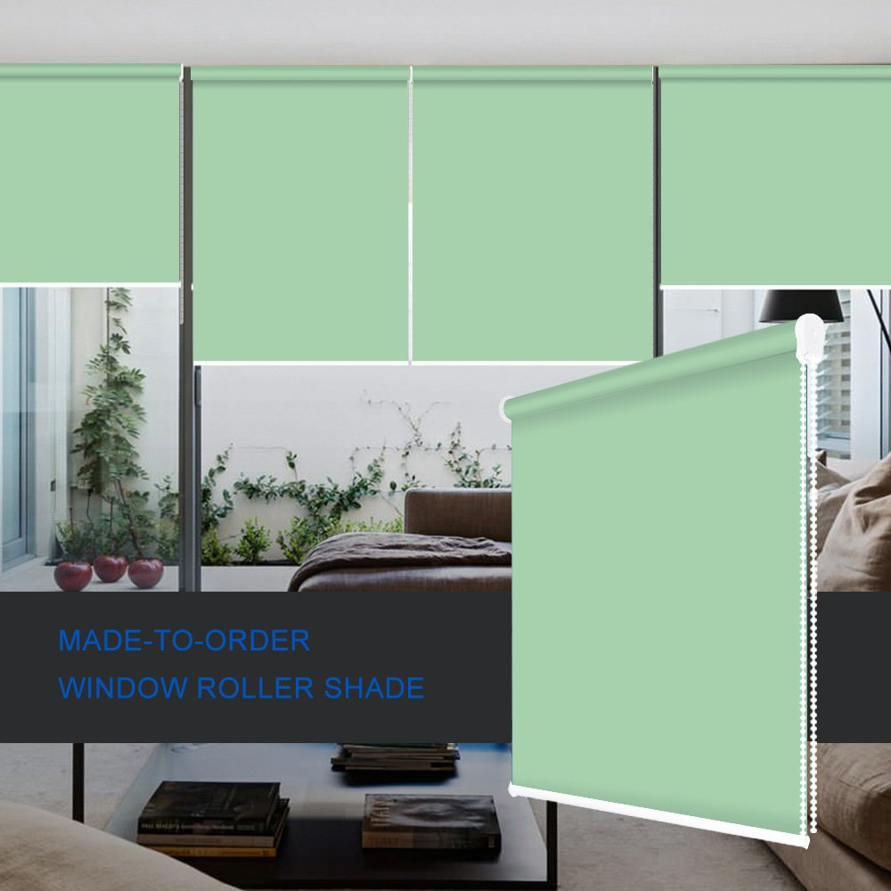 ZY Blinds Light Filtering Shades Custom Made Any Size from 20-78inch Wide UV Protection Enery Saving Window Shades Blinds For Home, Hotel, Club, Restaurant 25'' W x 36'' L, Apple Green