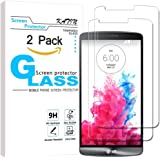 KATIN LG G3 Screen Protector - [2-Pack] LG G3 Tempered Glass Screen Protector Bubble free, 9H Hardness with Lifetime Replacement Warranty
