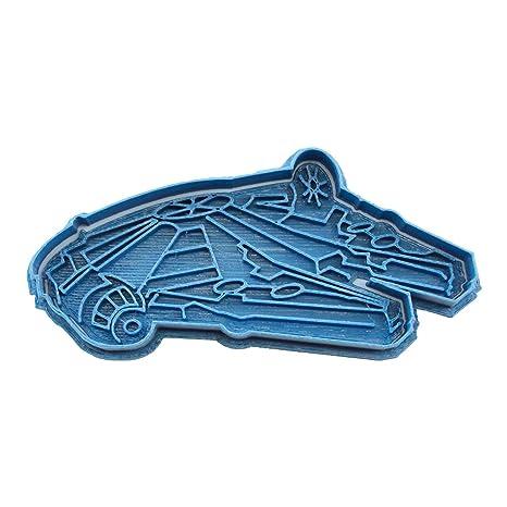 Cuticuter Star Wars Halcon Milenario Cortador de Galletas, Azul, 8x7x1.5 cm
