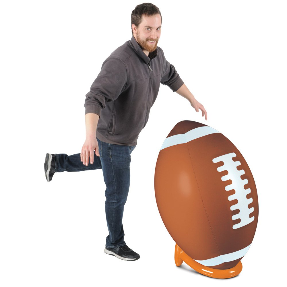 Inflatable Football & Tee Set Party Accessory (1 count) (1/Pkg) by Beistle (Image #1)