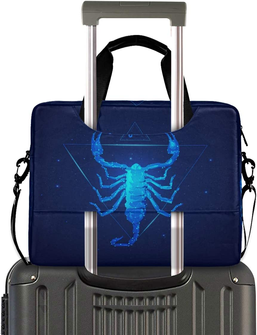 Great to Business Laptop Bag Briefcase Shoulder Bag Work Starry Sky Scorpio 15.6 Inch Tote Bag Laptop Messenger Shoulder Bag Laptop Carrying Bag