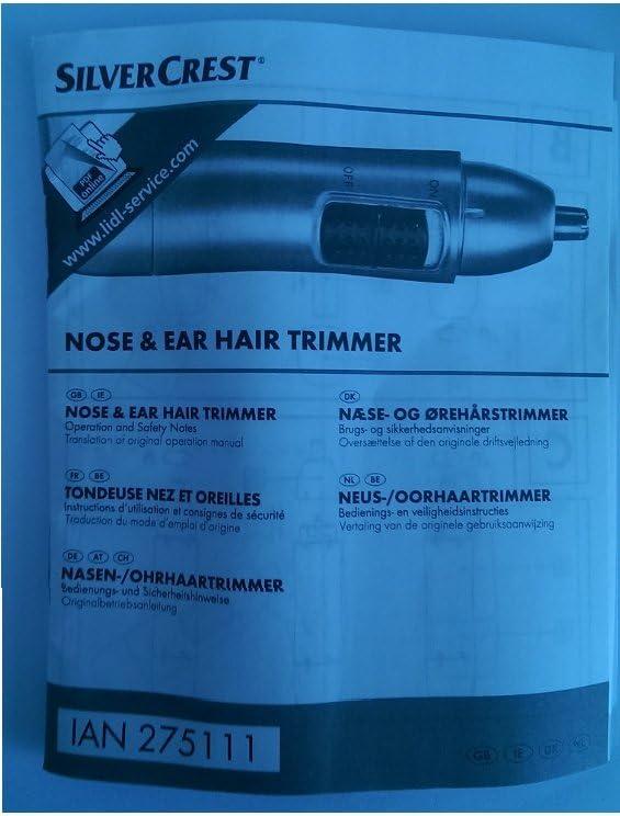 Silvercrest nariz/orejas pelo Trimmer, afeitadora para eliminación de pelo preciso: Amazon.es: Hogar