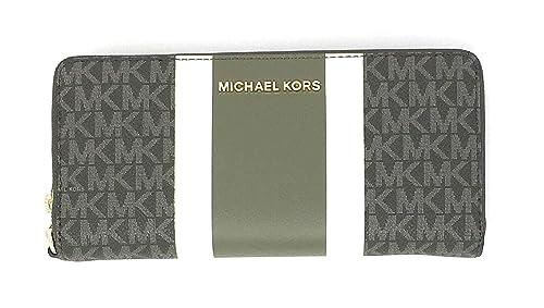 Michael Kors Jet Set Travel Continental Zip Around Leather Wallet Wristlet (Ivy Multi)