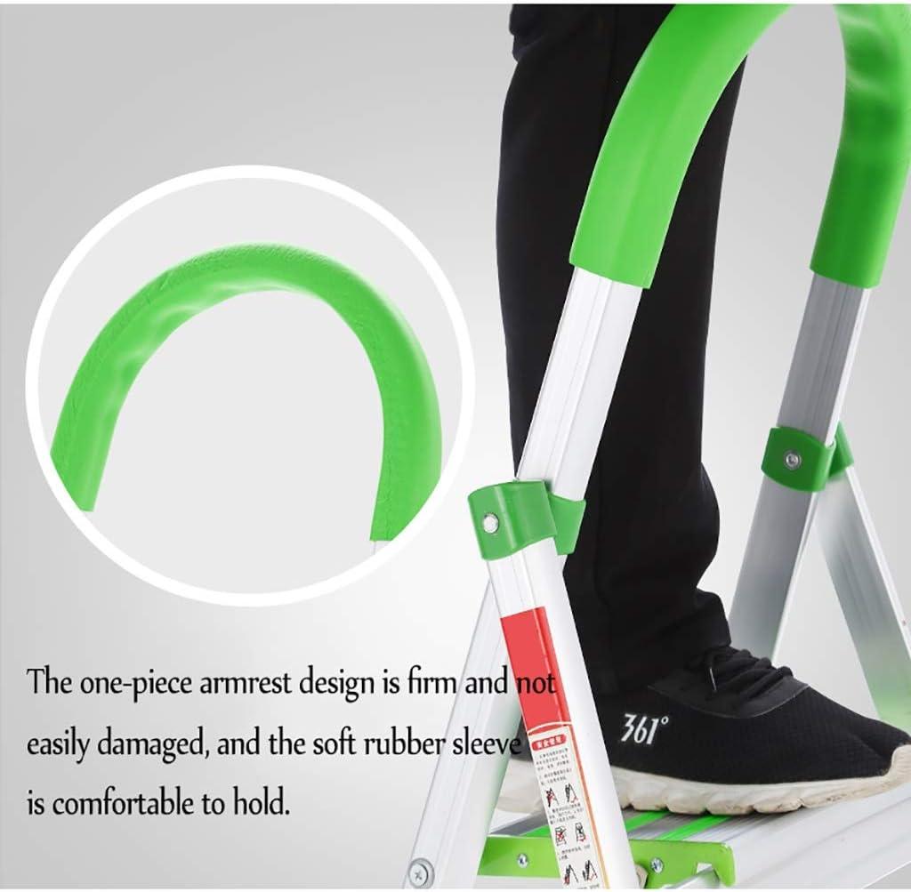 Escaleras Escalera plegable portátil con pies de goma antideslizantes, Escalera de la banda de rodadura de 4 pasos, Escalera de tijera doméstica, Carga de 150 kg - Fácil de almacenar/transportar, Es: Amazon.es: