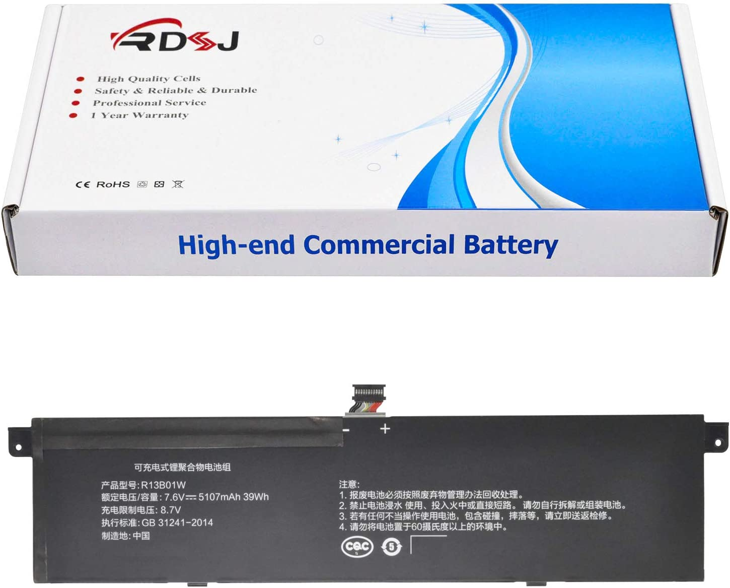 "R13B01W R13B02W Laptop Battery Compatible Xiaomi Mi Air 13.3"" Series Tablet 7.6V 39Wh"