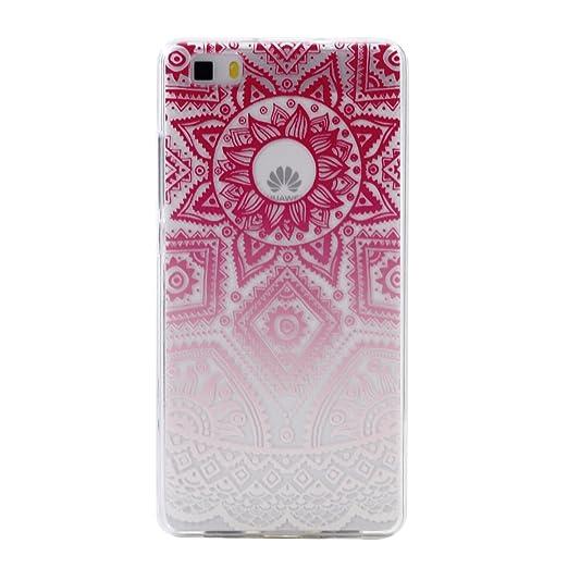 3 opinioni per Cover per Huawei P8 Lite,RUIST Ultra Sottile Silicone Custodia TPU Slim Bumper