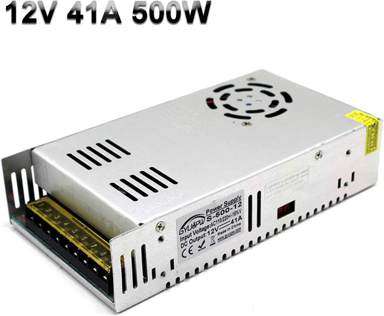 LED Strip Lights,Industrial Etc. Computer Project Radio 12V 30A 360W Switching Power Supply SMPS Universal Regulated Transformer 110//220VAC-DC12V for CCTV Monitoring,3D Printer