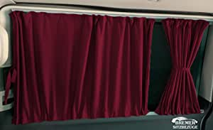 T4 Transporter larga Radstand medida cortinas cortinas parasol con Heckklappe o Flügeltüren Color: Weinrot: Amazon.es: Bebé