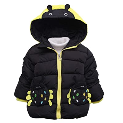 Baby Boys Girls Hooded Coat, Foutou Toddler Autumn Winter Thicken Warm Cloak Outwear Clothes