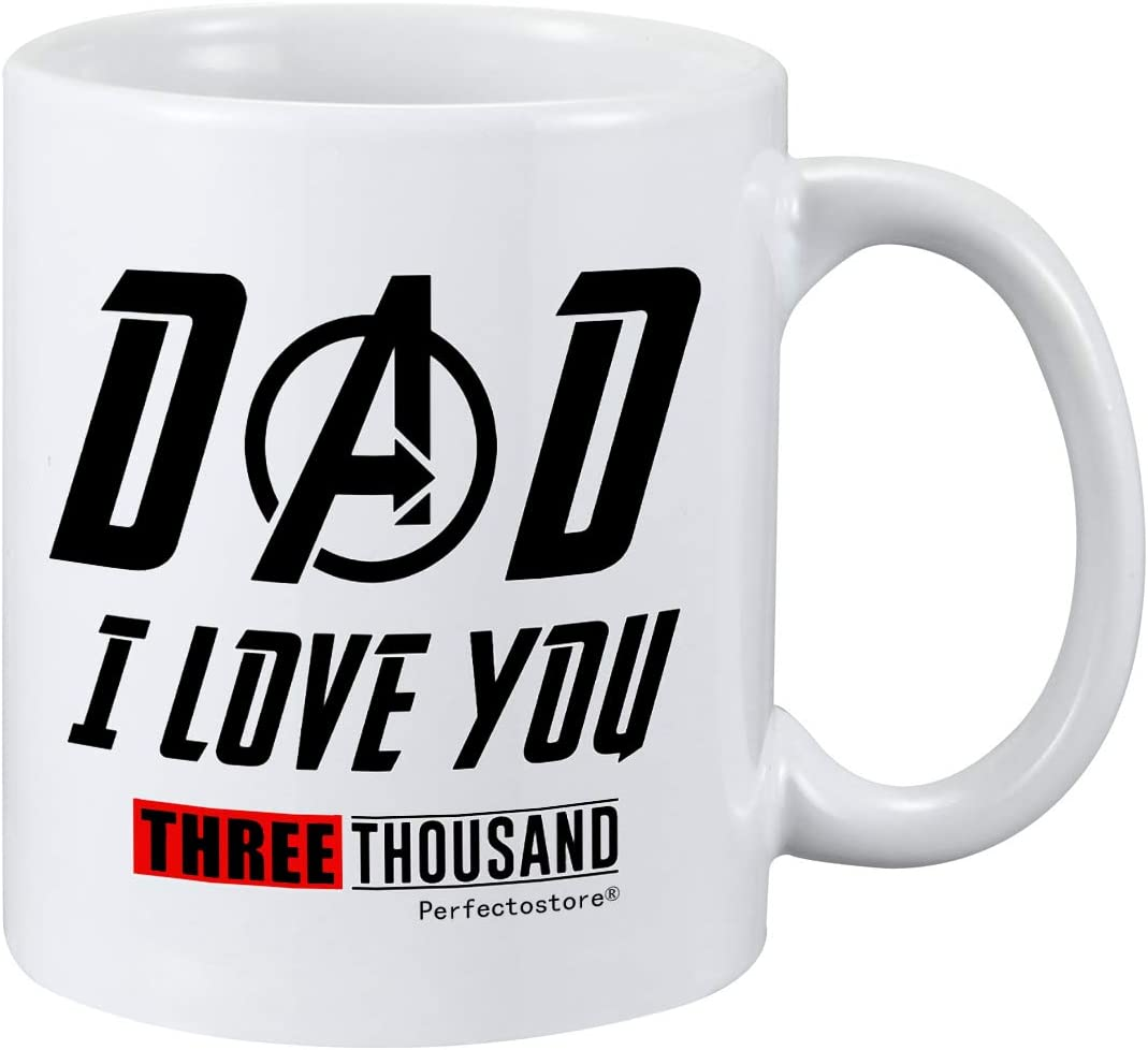 Fathers Day Mug for Dad - I Love You fans mug, Dad Mug from Daughter if had different dad i would kick him in face coffee mug tea cup 11oz