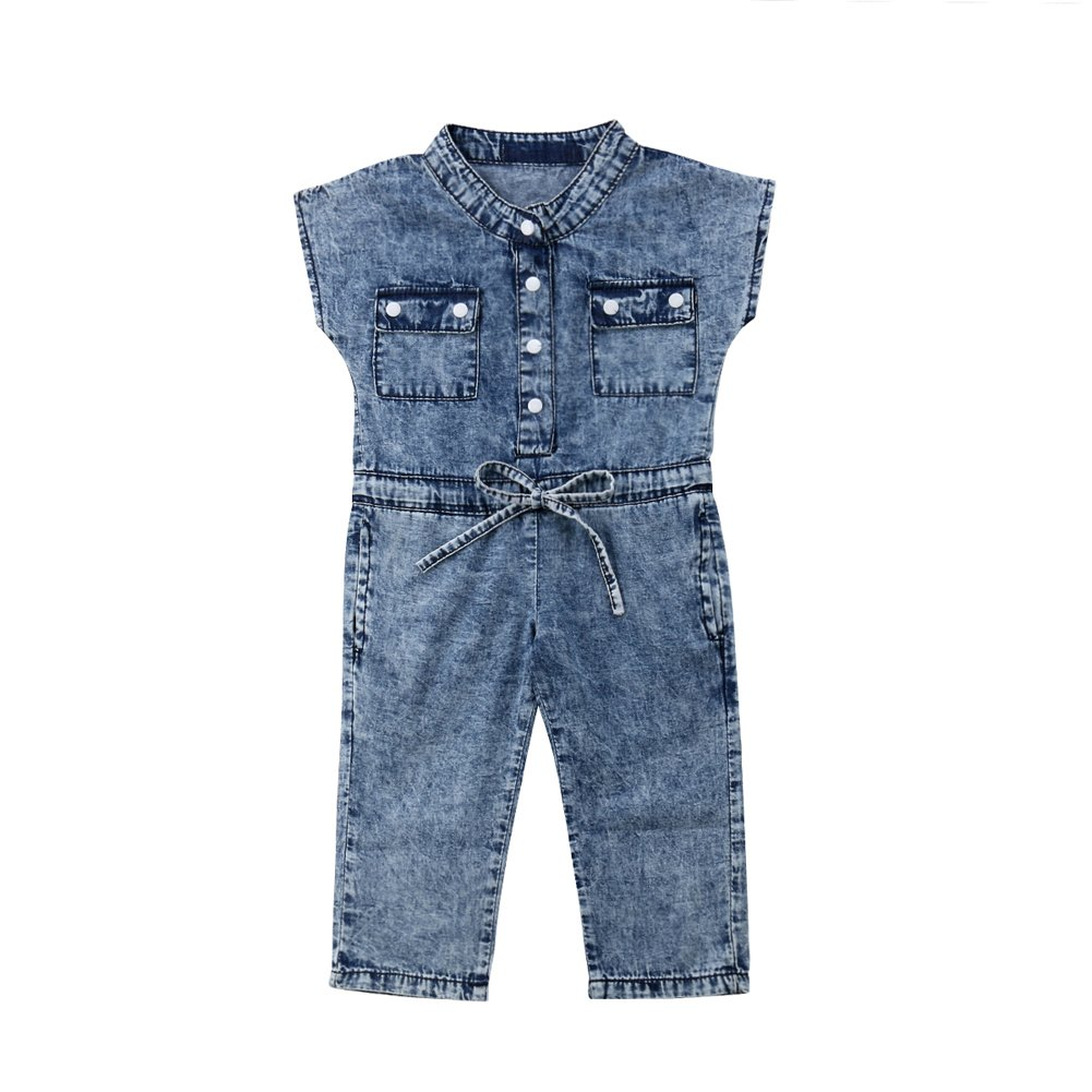 2c97394d12a Amazon.com  beBetterstore Toddler Girls Denim Jumpsuit